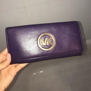 Michael Kors purple leather wallet